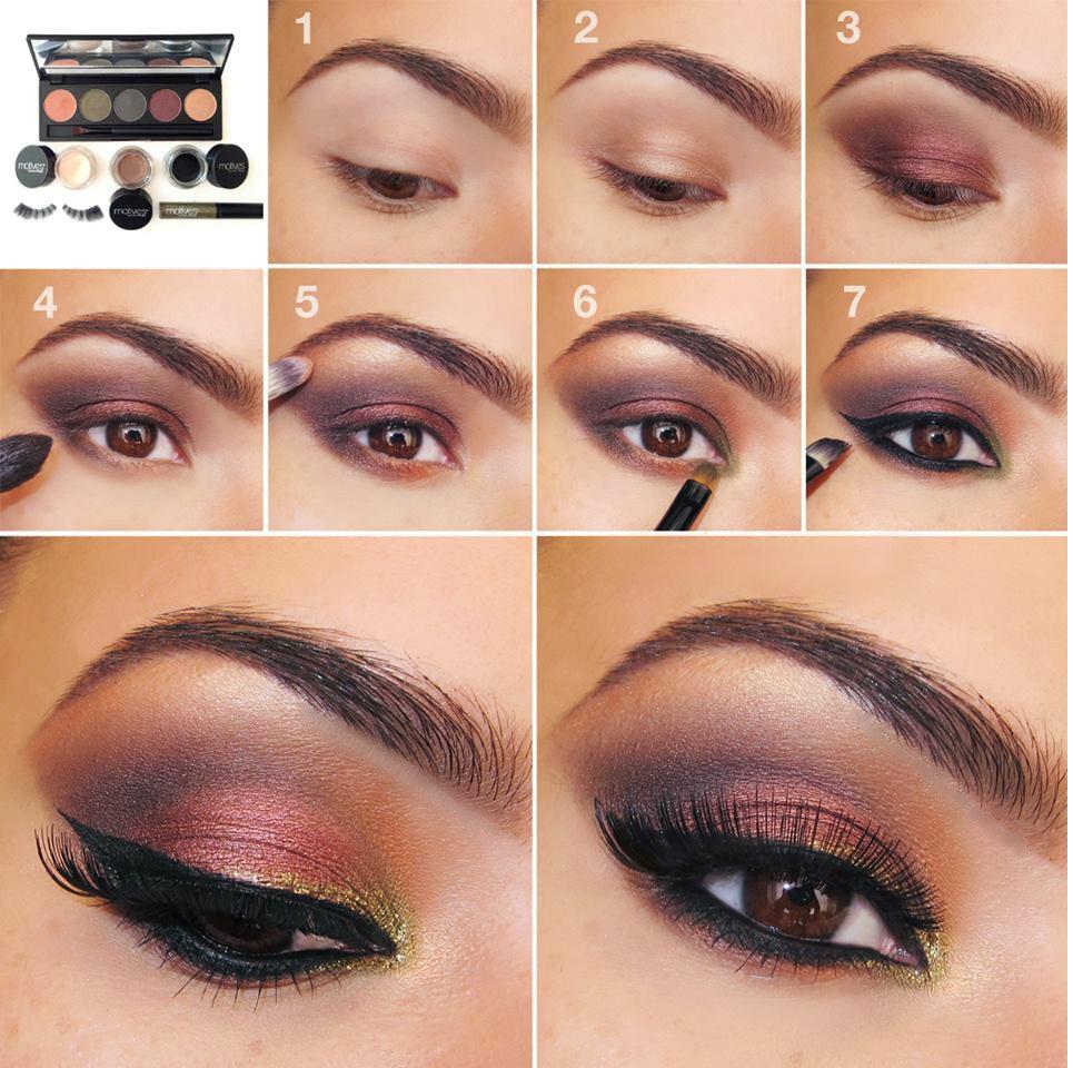 Бордовые тени для век макияж