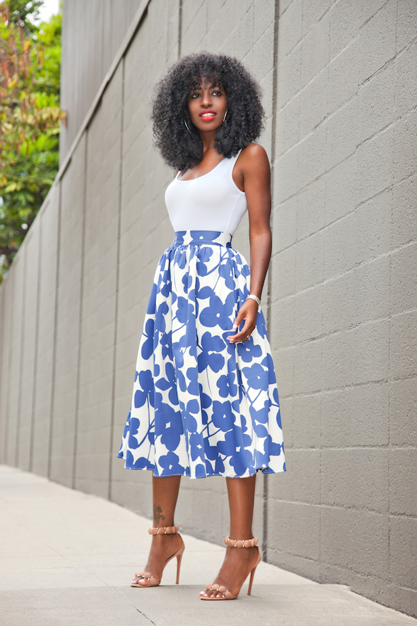 18 Outfit Ideas with Floral Midi Skirts You Have To See