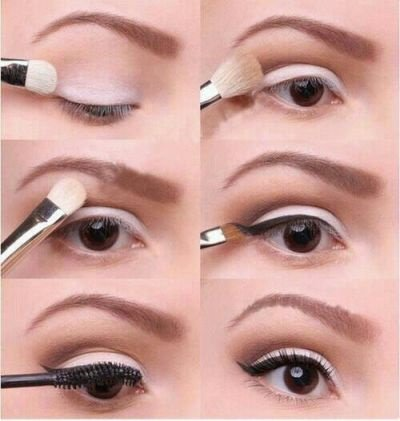 Step By Step Natural eyeshadow tutorials