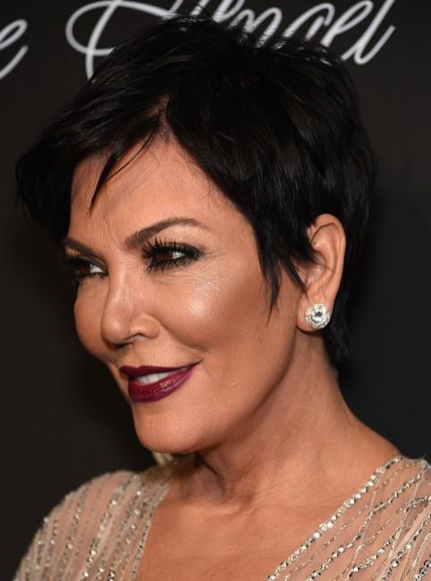 Kris Jenner Short Pixie Haircut