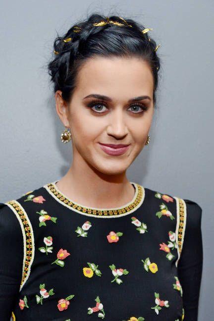 Katy Perry Crown Braid via