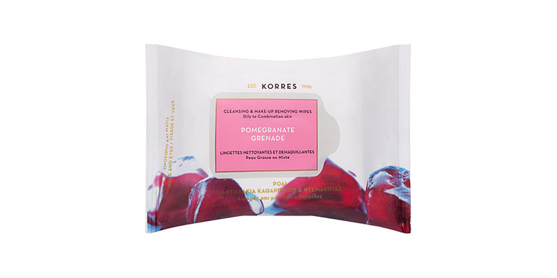 Korres Pomegranate Grenade wipes