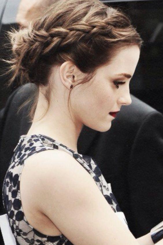 Emma Watson Crown Braid via