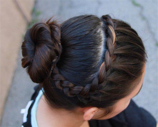 French Braid Bun | Homecoming Dance Hairstyles Inspiration Perfect For The Queen