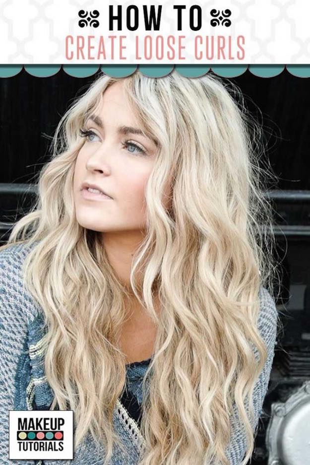 Loose Curls For Long Hair   Homecoming Dance Hairstyles Inspiration Perfect For The Queen