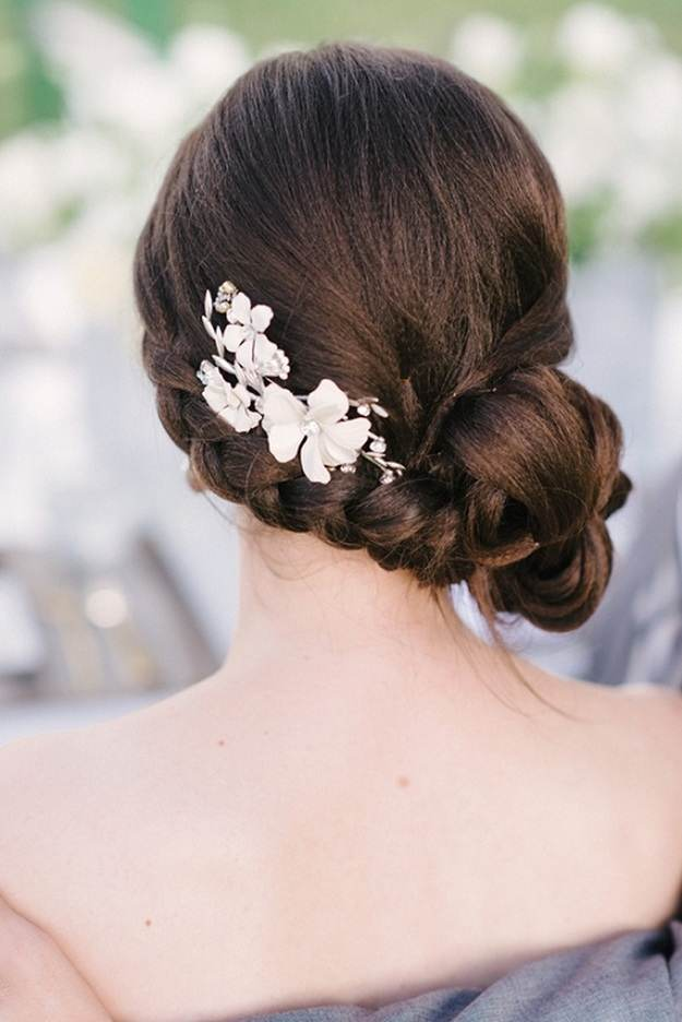 Side Bun With Flowers | Homecoming Dance Hairstyles Inspiration Perfect For The Queen