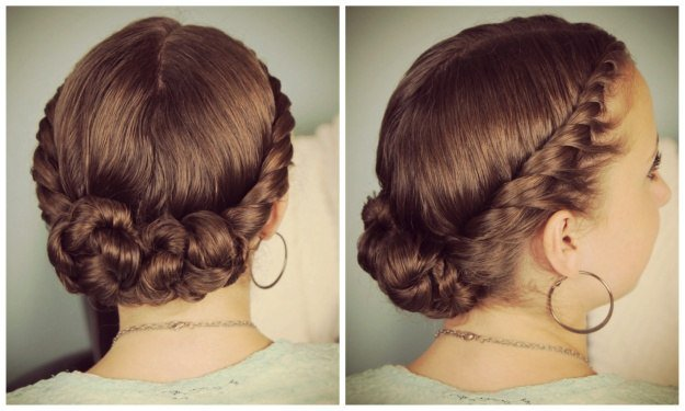 Twisted Updo Hairstyle | Homecoming Dance Hairstyles Inspiration Perfect For The Queen