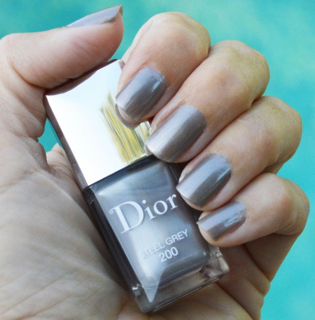 Dior, Steel Grey | 30 Gorgeous Fall Nail Colors You Should Definitely Try
