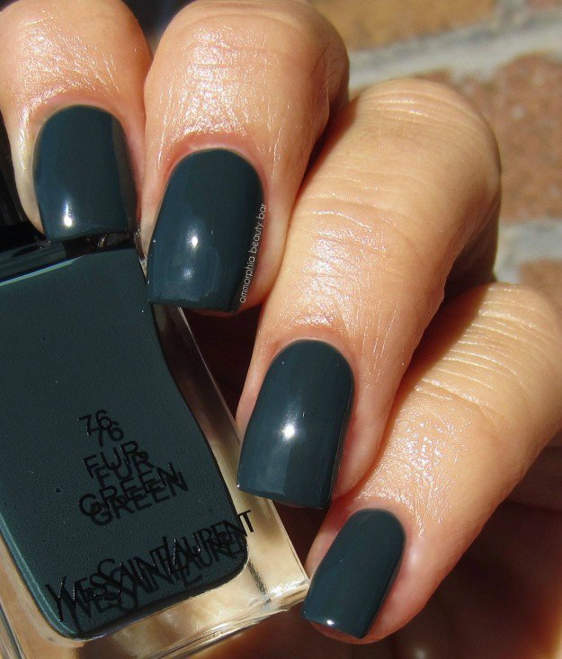 Yves Saint Laurent, Fur Green | 30 Gorgeous Fall Nail Colors You Should Definitely Try