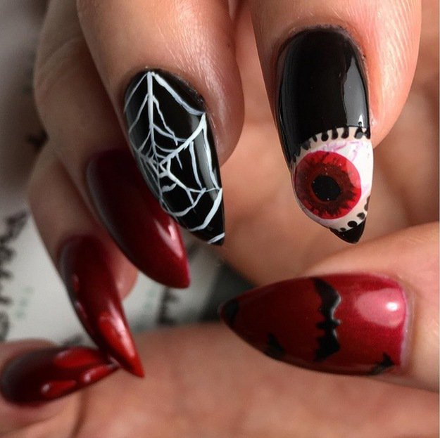 Eye See You | Top 10 DIY Halloween Nail Art Ideas