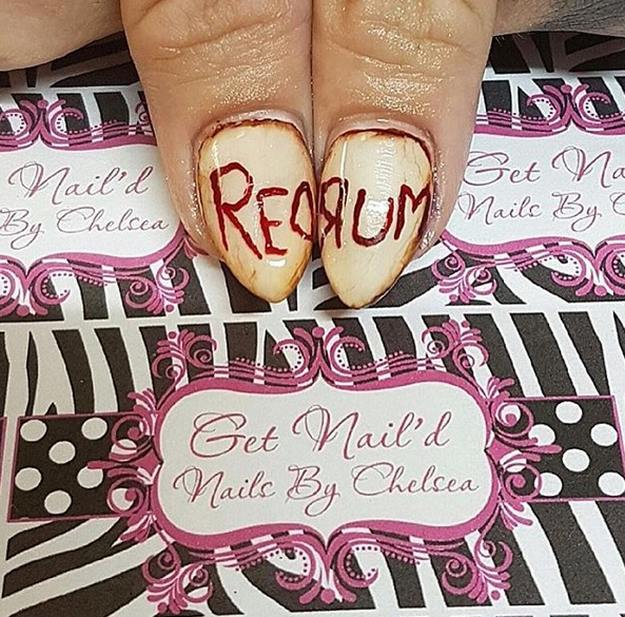 The Shining | Top 10 DIY Halloween Nail Art Ideas