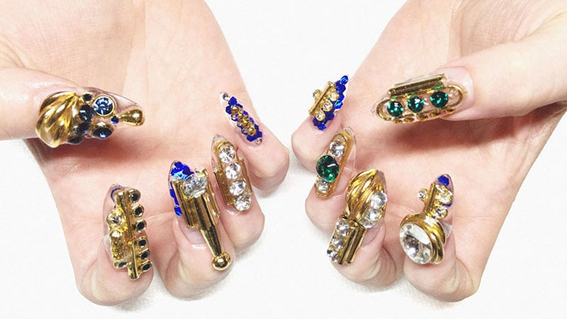 Sculptural Styles - Nail Art
