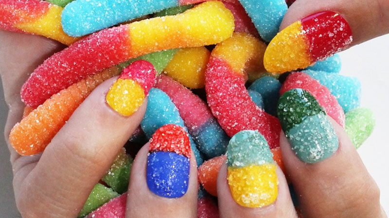 Lucy Hale's Sugar Nails - Nail Art