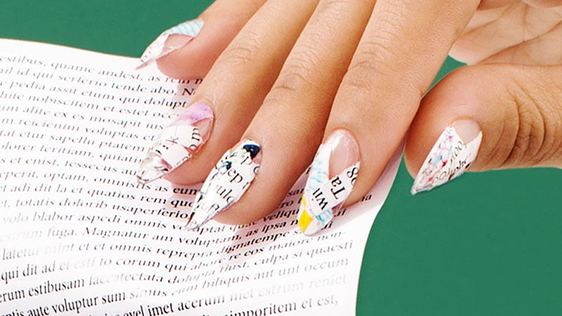 Newspaper Nails - Nail Art