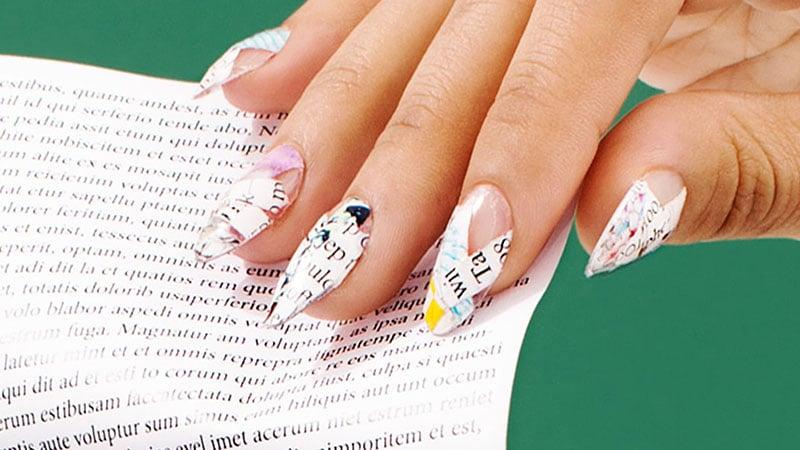 Newspaper Nails - Nail Art