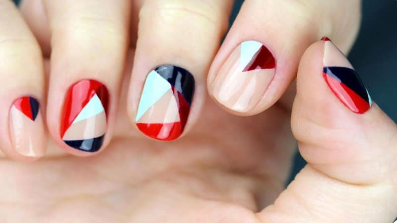 Geometric Nails- Nail Art