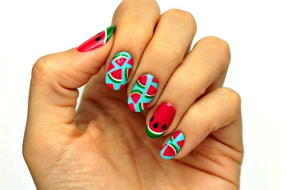 Fruit Nail Art | Watermelon Slice Tutorial