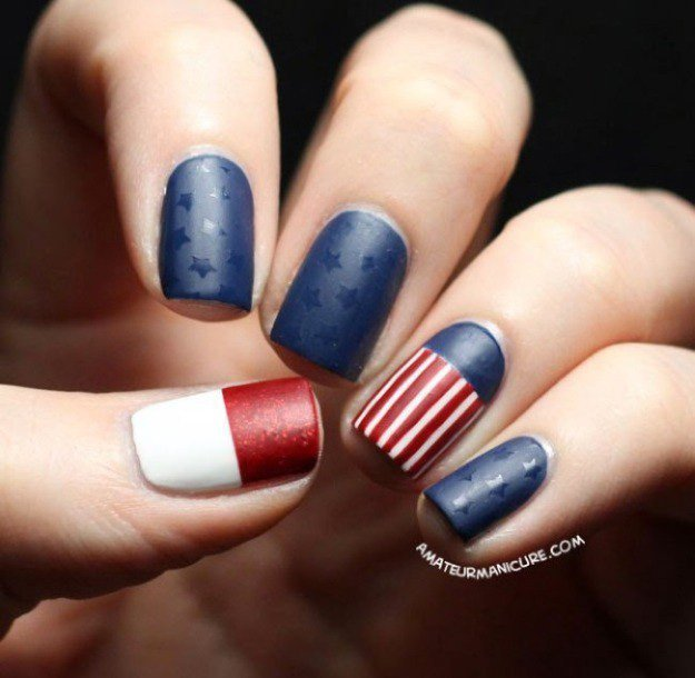 Classic Stripes and Stars   Fun 4th Of July Nail Designs To Show Your Love For America