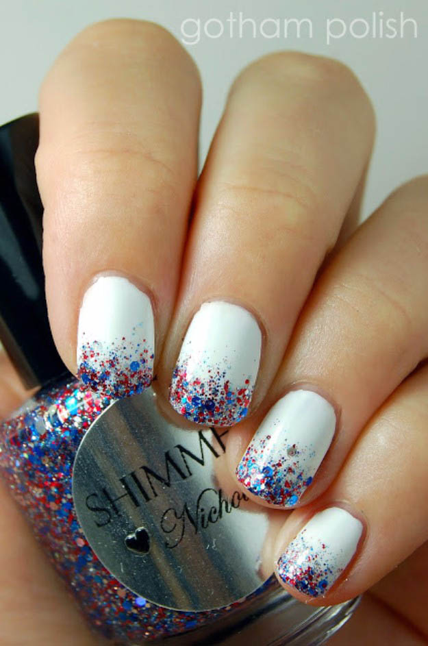 Confetti and Fireworks | Fun 4th Of July Nail Designs To Show Your Love For America