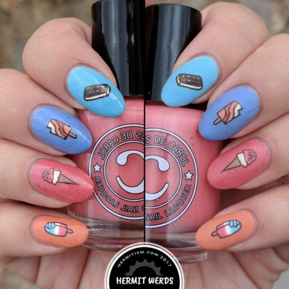 If You're An Ice Cream Lover, You'll Love These Nail Designs 2