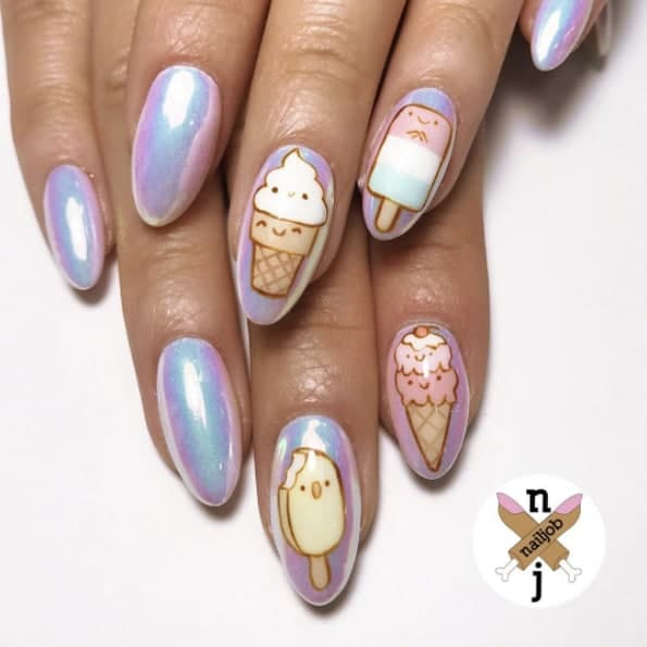 If You're An Ice Cream Lover, You'll Love These Nail Designs 1