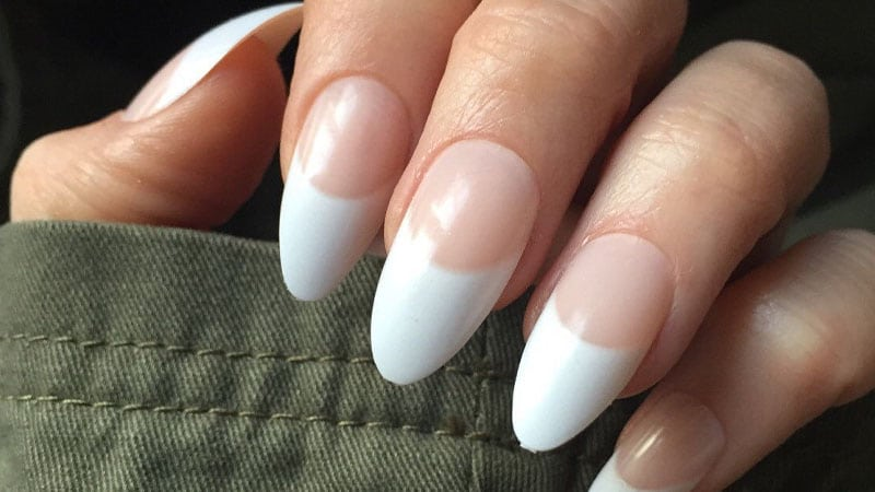 French Almond Shaped Nails