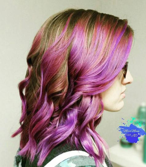 Purple Vibrant Haircolor Ideas