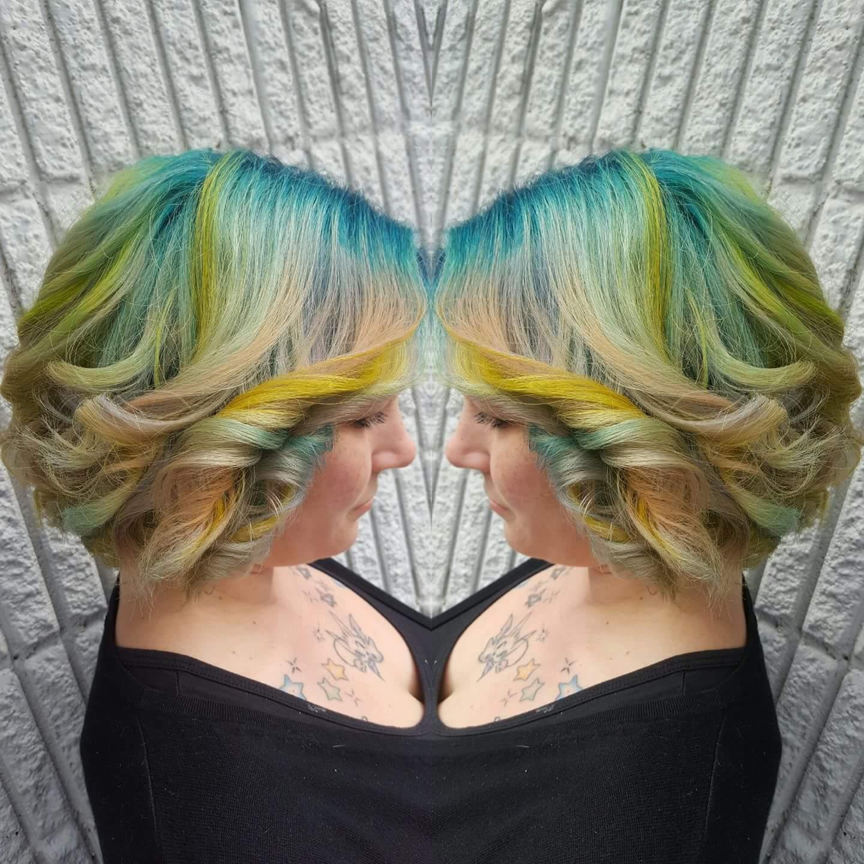 Opal Pastel Rainbow Hair Color