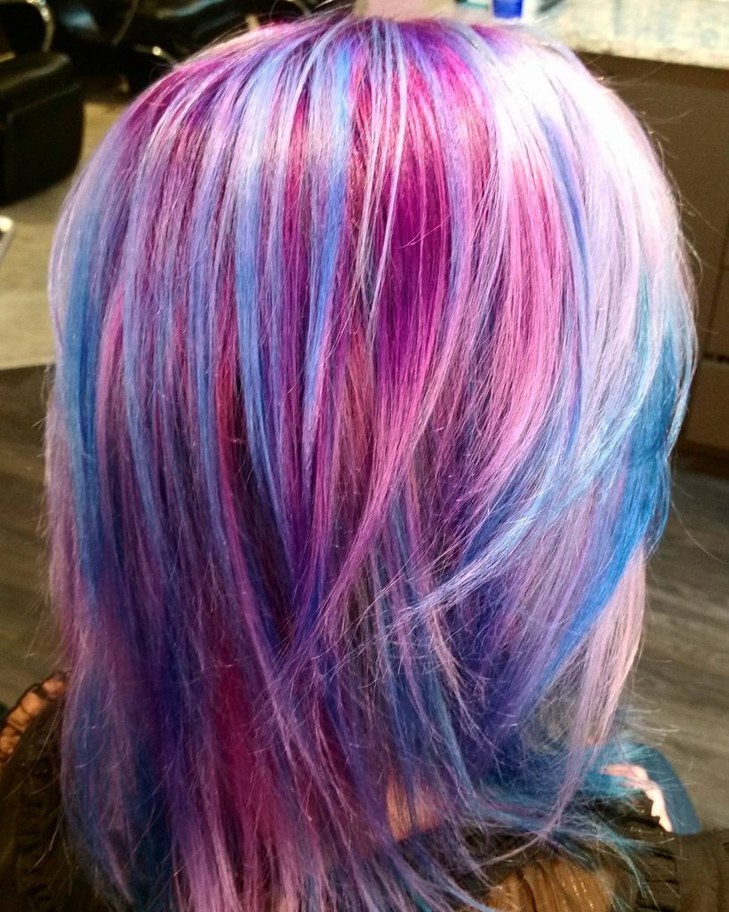 Nebula Color Hairstyle