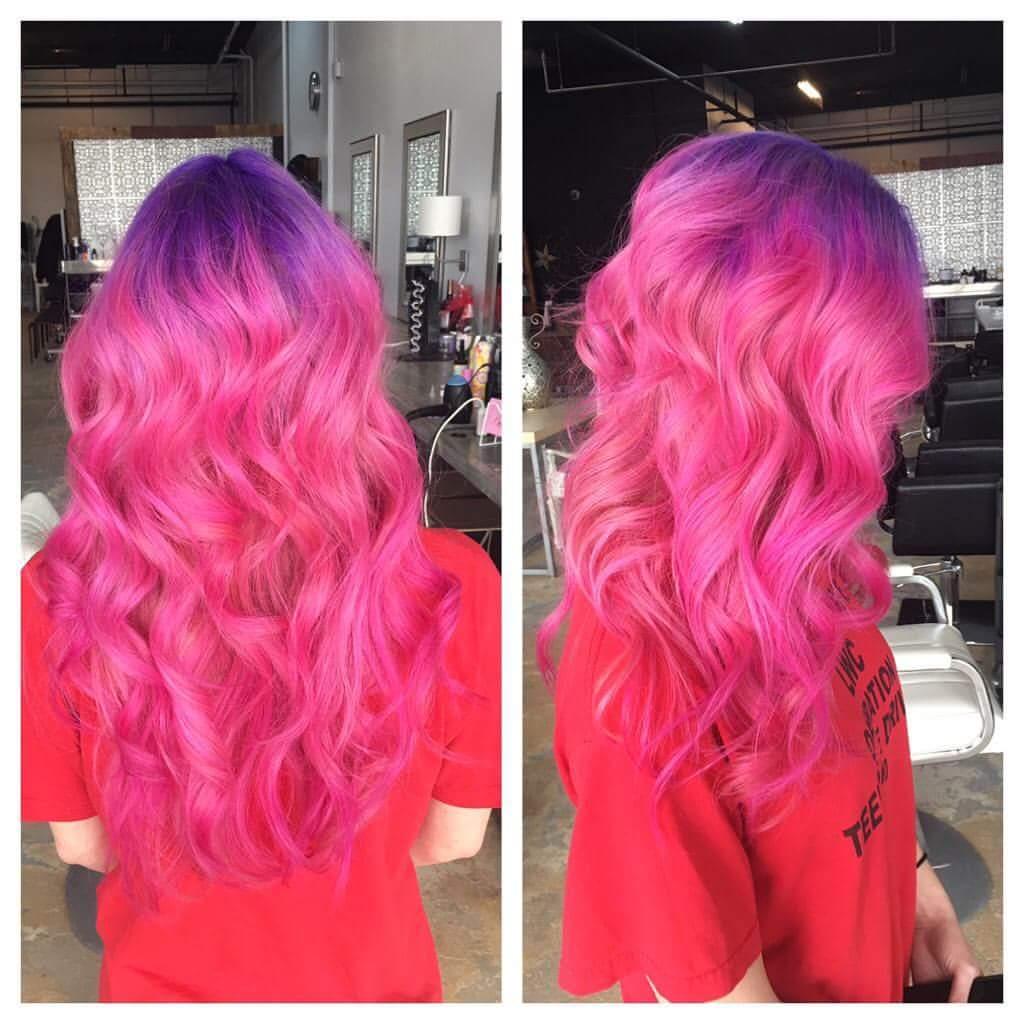 Purple Pink Long Hair Ideas