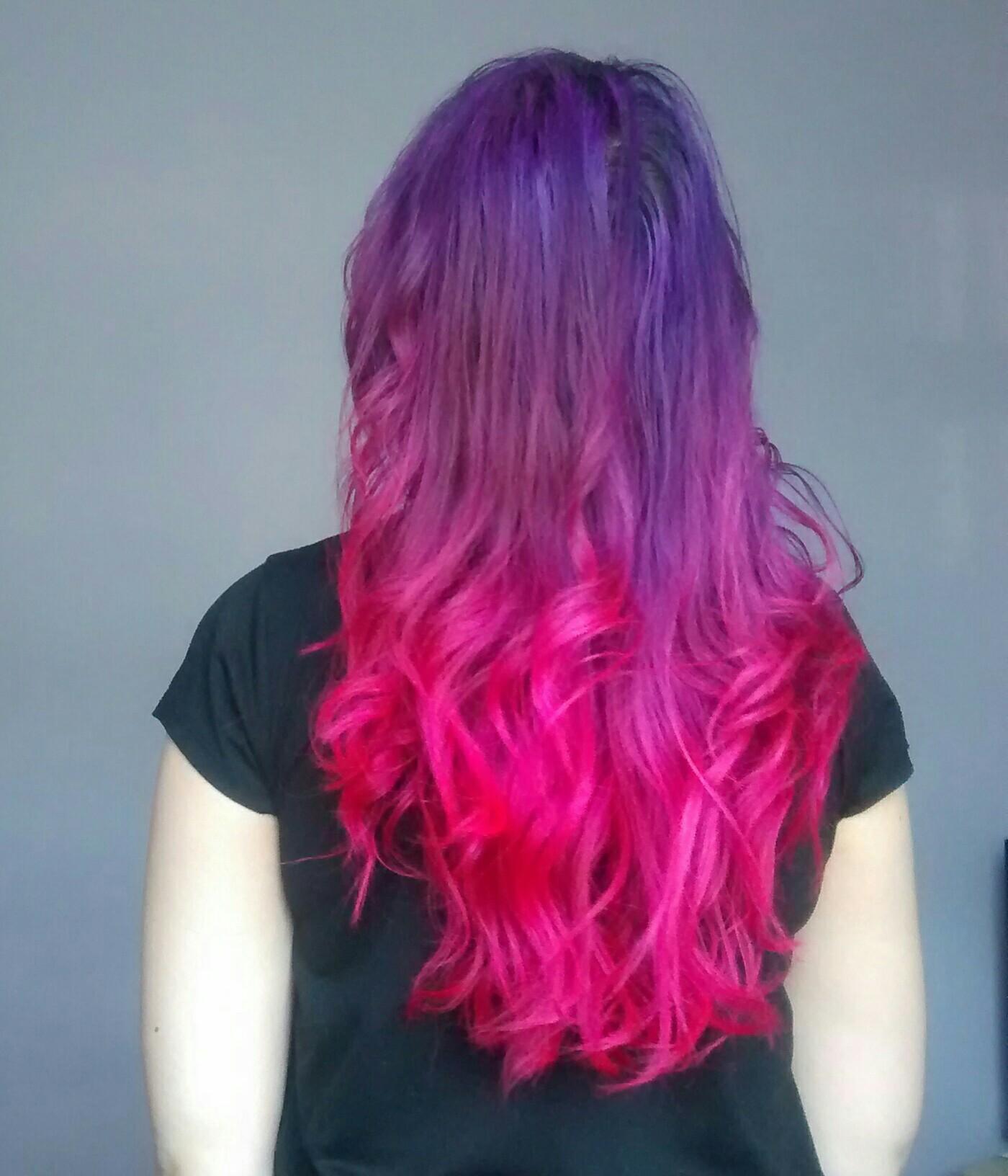 Splat Pink Purple Haircolor
