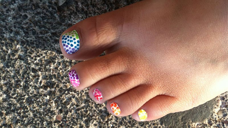 Easy toenail design