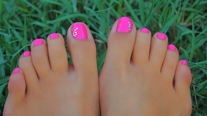 Hot Pink Toenails