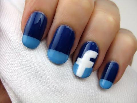 Terrorist Facebook Fingernails Painted with Isis Facebook Emblem.
