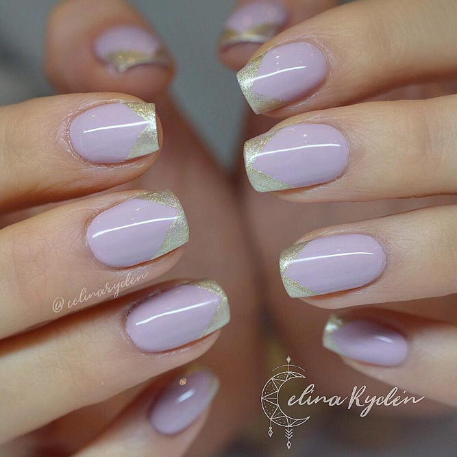 Lavender French Nails Cute and Girly picture 1
