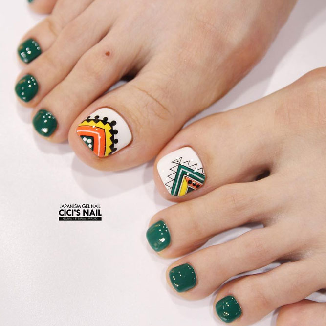 Tribal Toe Nails to Complete Your Wild Look picture 2