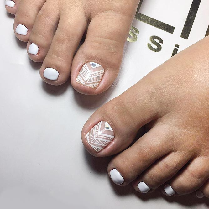 Tribal Toe Nails to Complete Your Wild Look picture 3
