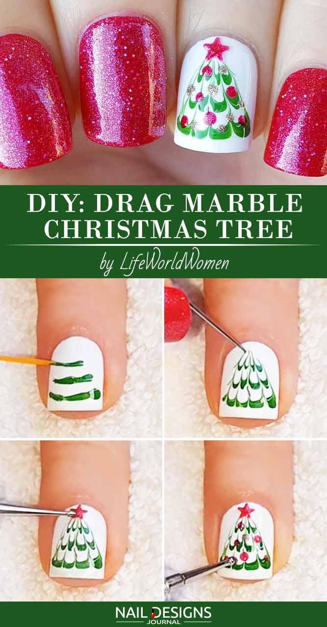 Mesmerizing Drag Marble Christmas Tree