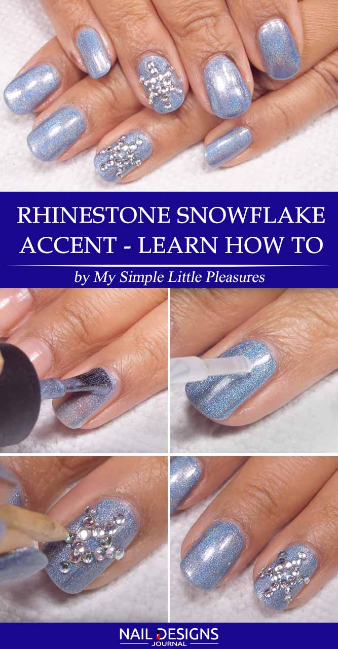Rhinestone Snowflake Accent - Learn How To