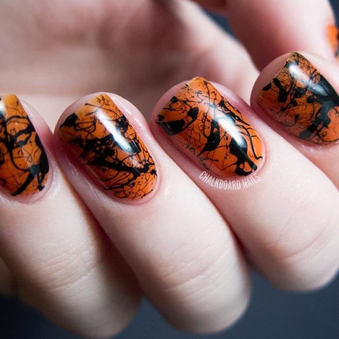 Cool Nail Art Splatter Effect
