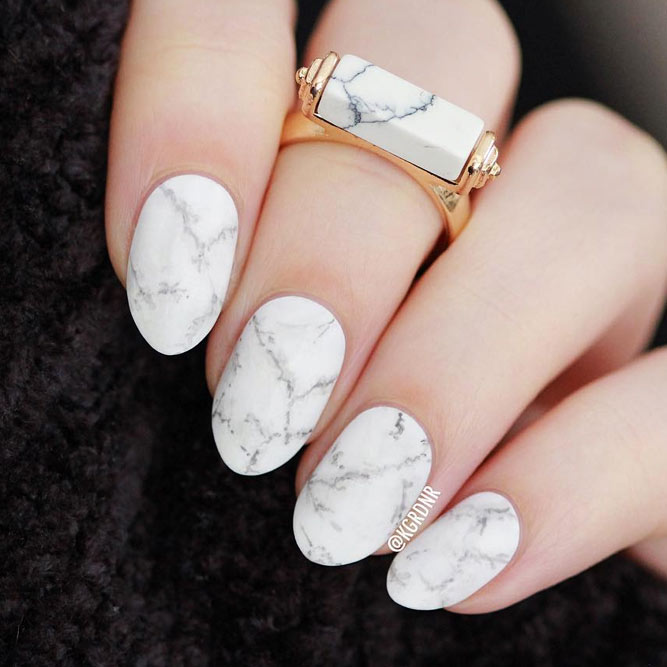 The Hottest Trend Stone Marble Nail Art