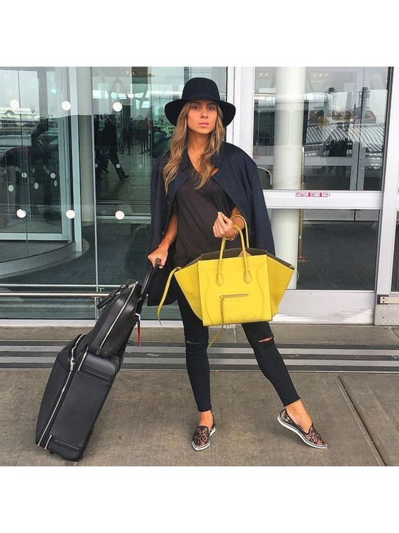 travel bag yellow
