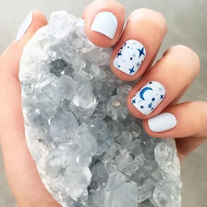 Fairy Stars and Moon Nail Art picture 2