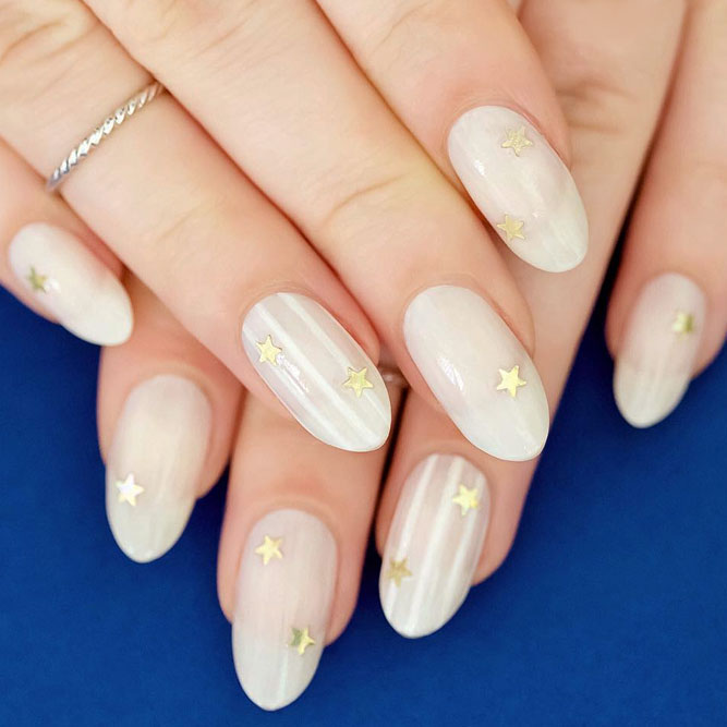 Easy Nail Designs with Star Sequins picture 1