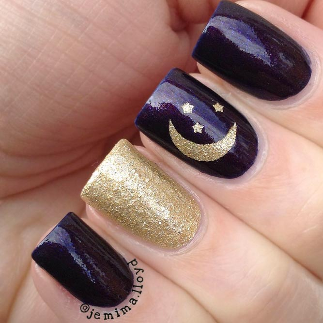Fairy Stars and Moon Nail Art picture 1