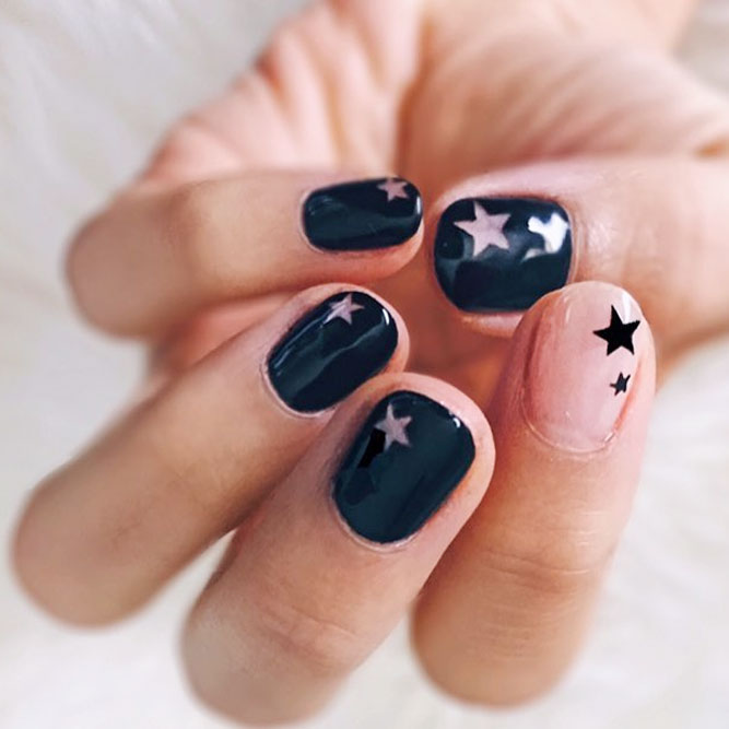 Star Nails and Negative Space picture 2