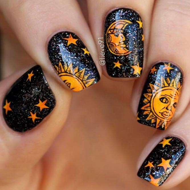 Fairy Stars and Moon Nail Art picture 3
