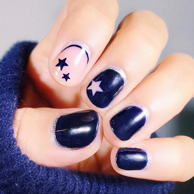 Accent Nail Design with Stars picture 3