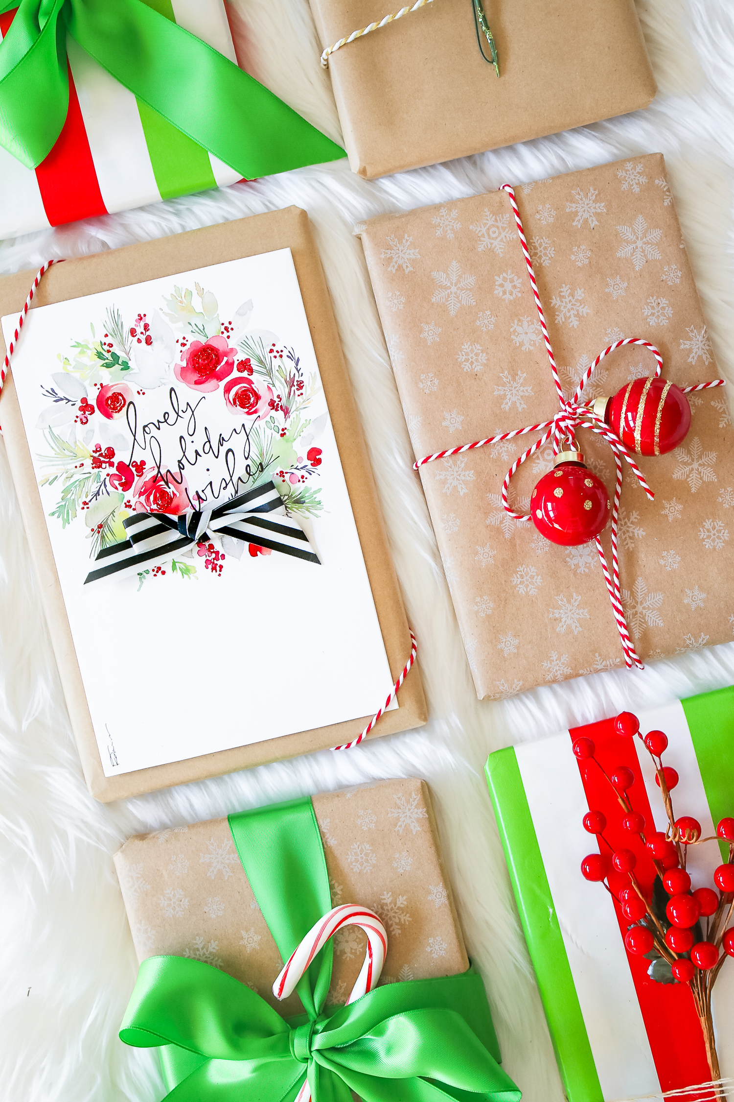 Creative and elegant holiday gift wrap ideas by southern blogger Stephanie Ziajka from Diary of a Debutante