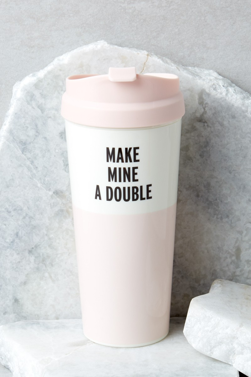 Kate Spade Make Mine A Double Tumbler featured in Holiday Gift Guide: Something for Everyone on Your List by guest poster the Red Dress Boutique on Diary of a Debutante